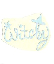 white witchy decal ideal cars, trucks,laptop,mirror,home etc easy to apply 9x8cm