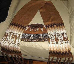 Ethnic peruvian scarf and hat made of Alpacawool   - $51.00