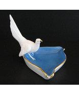 West Germany Blue & White Dove Pin Dish Ashtray - $44.00