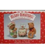 Hallmark Merry Miniatures Tea Time 3 Piece Set - $6.93