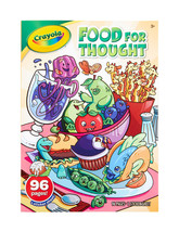 Lot of 2 Crayola Color & Sticker books ~Food For Thought and Jungle Animals - $7.99