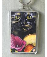 Large Cat Art Keychain - Chloe and Callas - $8.00