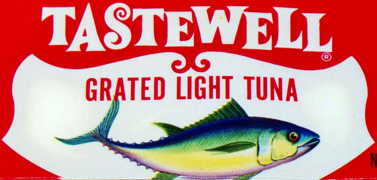 4 Different Vintage Tuna Labels, Highly Collectible!