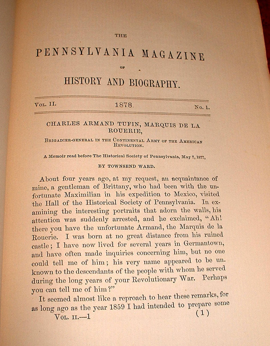 Pennsylvania Magazine History Biography v1&2 1877-78 Bound