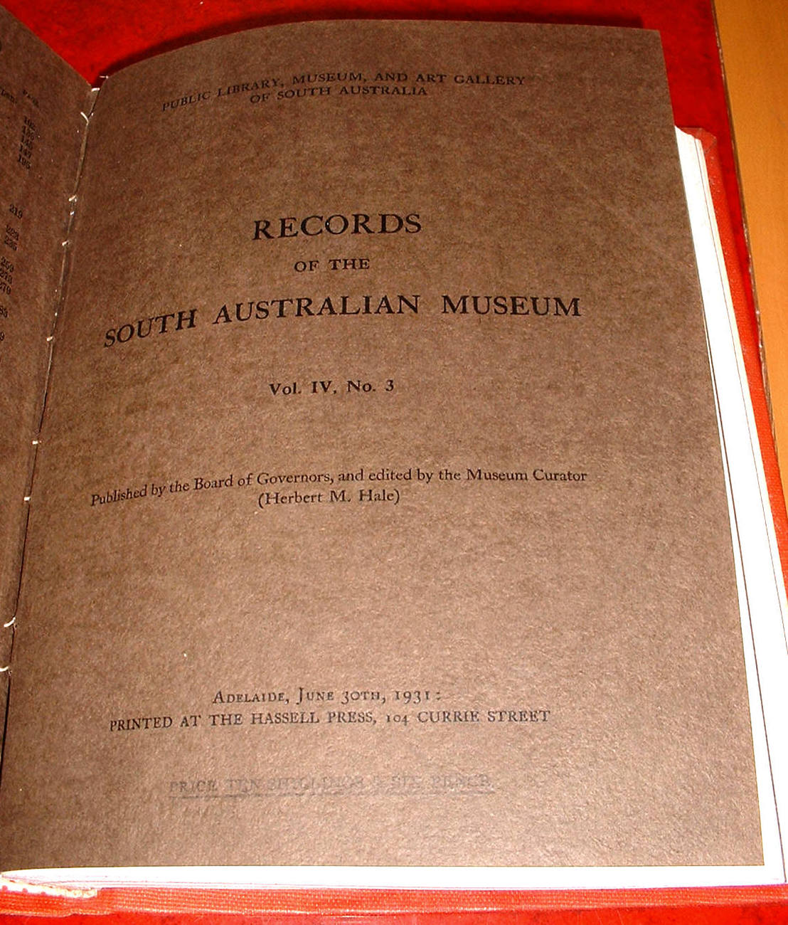 Records South Australian Museum Bound v4 1928-32 Science Whales Fish