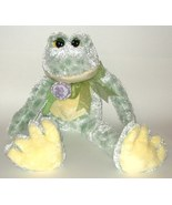 50% off! Frog Chenille Floppy Plush Green Yellow Purple Rose  - $4.00
