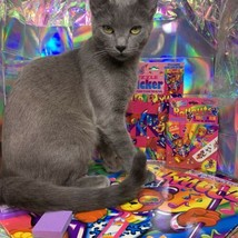 $22UPS1Day/$6USPS LISA FRANK Easter Puzzle Sealed stickers Rollouts Stamp Kitty image 1