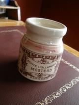 Vintage DELFTS Pink MUSTARD JAR - Holland - $25.99