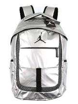 NWT $65 Nike Air Jordan Jumpman Silver & Black Laptop School Bag Backpac... - $50.07 CAD