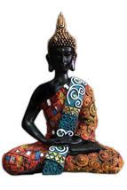 Thai Buddha Meditating Peace Harmony Statue Thailand Home Decor Garden O... - $39.95