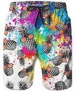 Loveternal Funny 3D Pineapple Printed Quick Dry Mens Short Swim Trunks w... - €25,07 EUR