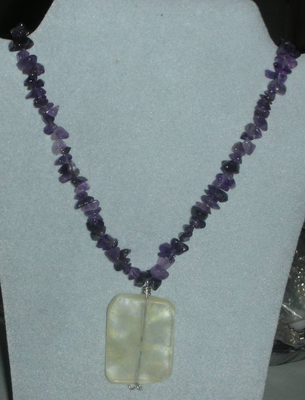 Genuine Natural Amethyst & Citrine Beads Necklace