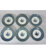 Vintage Blue and White Steamboat Saucers Currier & Ives Royal China Set ... - $17.81