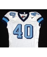 UNC Tarheel GAME USED WORN FOOTBALL JERSEY Sz 50 WHITE #40 North Carolina - $69.00