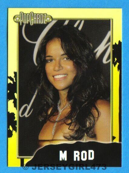 Michelle Rodriguez 2008 PopCardz Celebrity Card ~ Machete, Fast & Furious