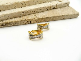 Vintage Avon Mixed Metal Silver Gold Tone X Kiss Clip On Earrings D61 - $15.99