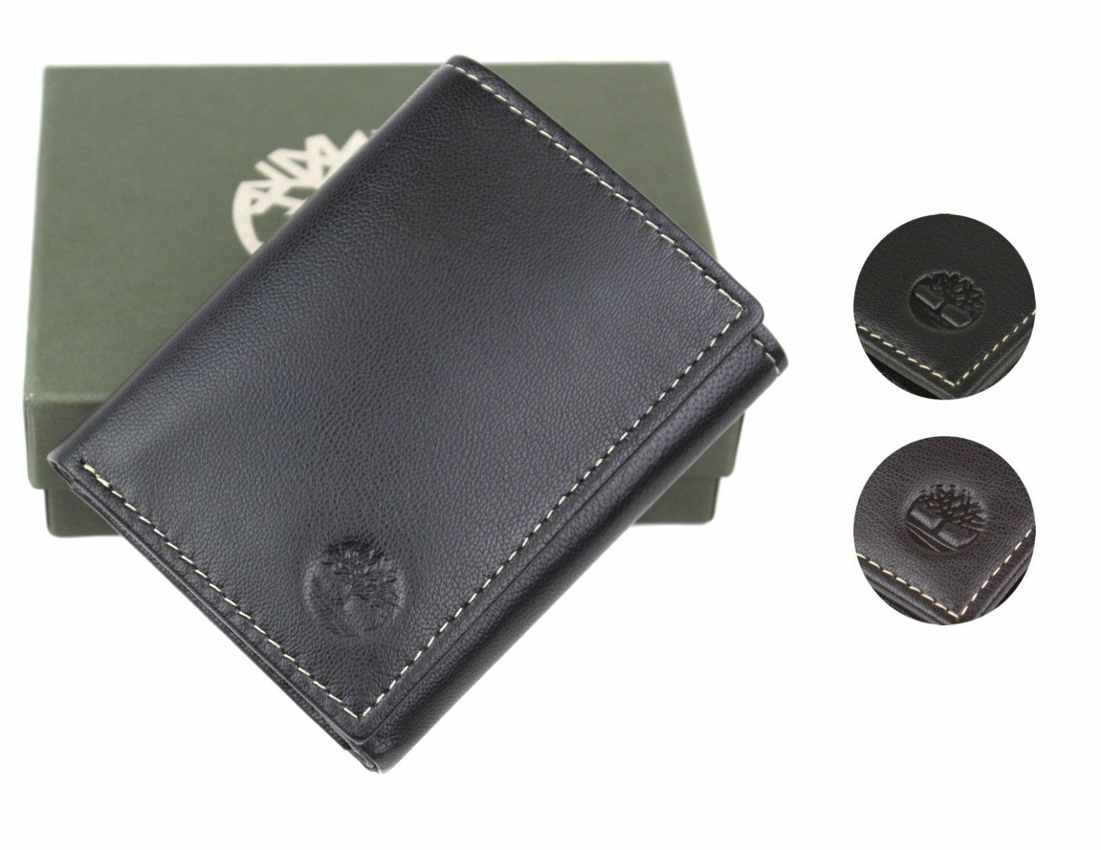 Timberland Men's Genuine Leather Passcase Credit Card Id Trifold Wallet