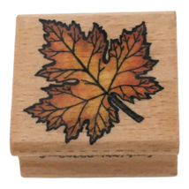 StampCraft Rubber Stamp Maple Leaf Fall Autumn Seasons Thanksgiving Card... - $3.99