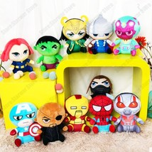 Marvel Avengers 4 Superhero all staff Plush toy Dolls Captain America  I... - $43.10