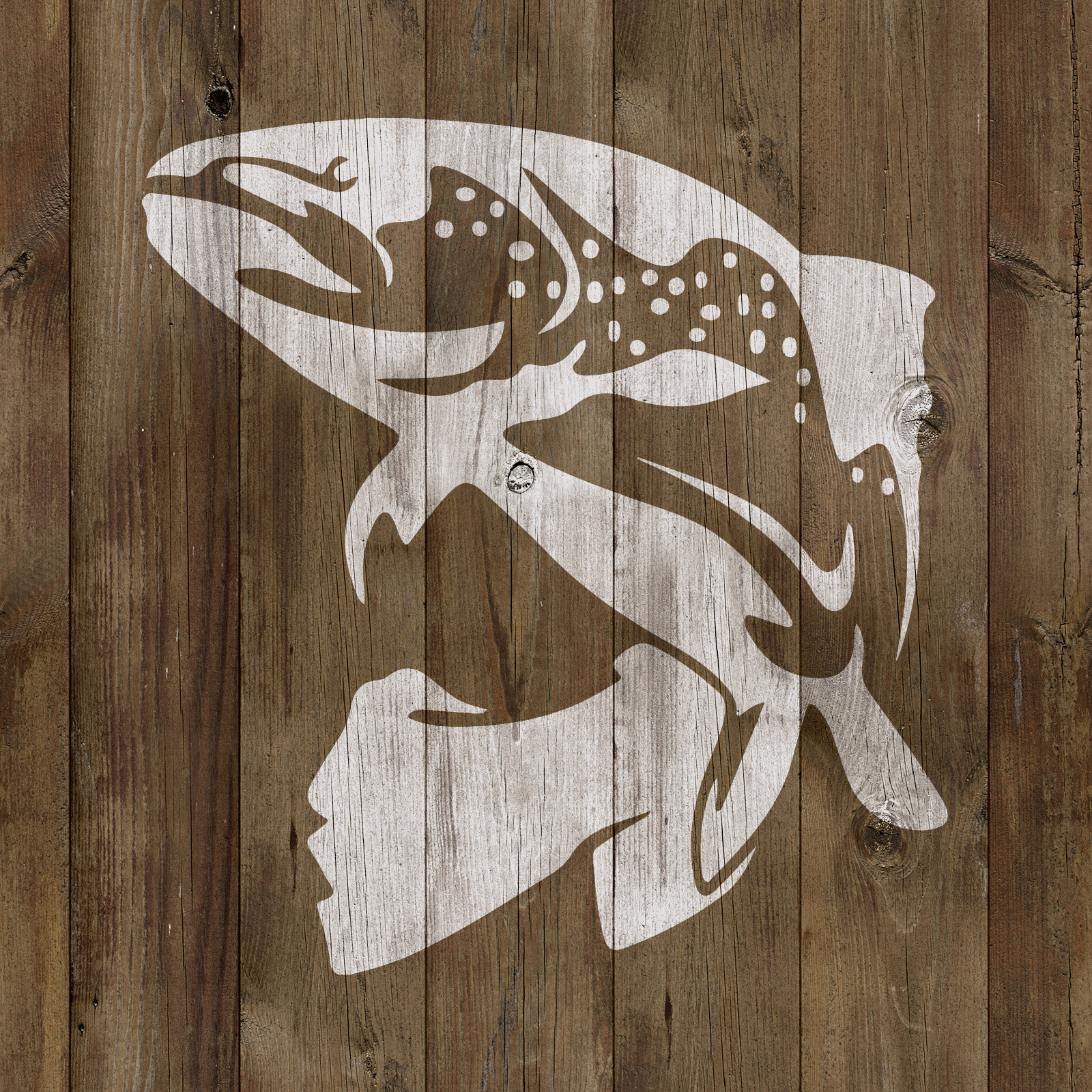Trout Fish Stencil - Reusable Stencils of Fish in Multiple Sizes