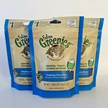 Feline Greenies Tempting Tuna Flavor Cat Dental Treats Lot of 3 BB 7/21 - $24.14