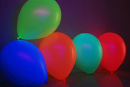 Set of 50 Assorted 11 inch UV Blacklight Reactive Latex Balloons - $16.95