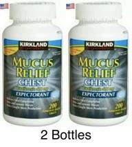Kirkland Signature Mucus Relief Tablets, 2 Bottles Total 400 Tablets),Fr... - $21.73