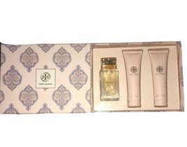 Tory Burch 3 PC Set For Women Parfum Spray 3.4 100ML + Body Lotion + Shower Gel  - $79.99