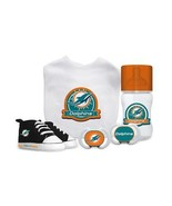 NFL Baby Fanatic Miami Dolphins Baby Essentials 5 Piece Infant Gift Set - $45.53
