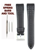 Compatible Seiko Sportura SNAF37 21mm Black Genuine Leather Watch Strap SKO110 - $34.86