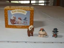 HALLMARK Merry Miniatures Charm Giving Thanks 3 piece set 1996 Thanksgiving - $10.68