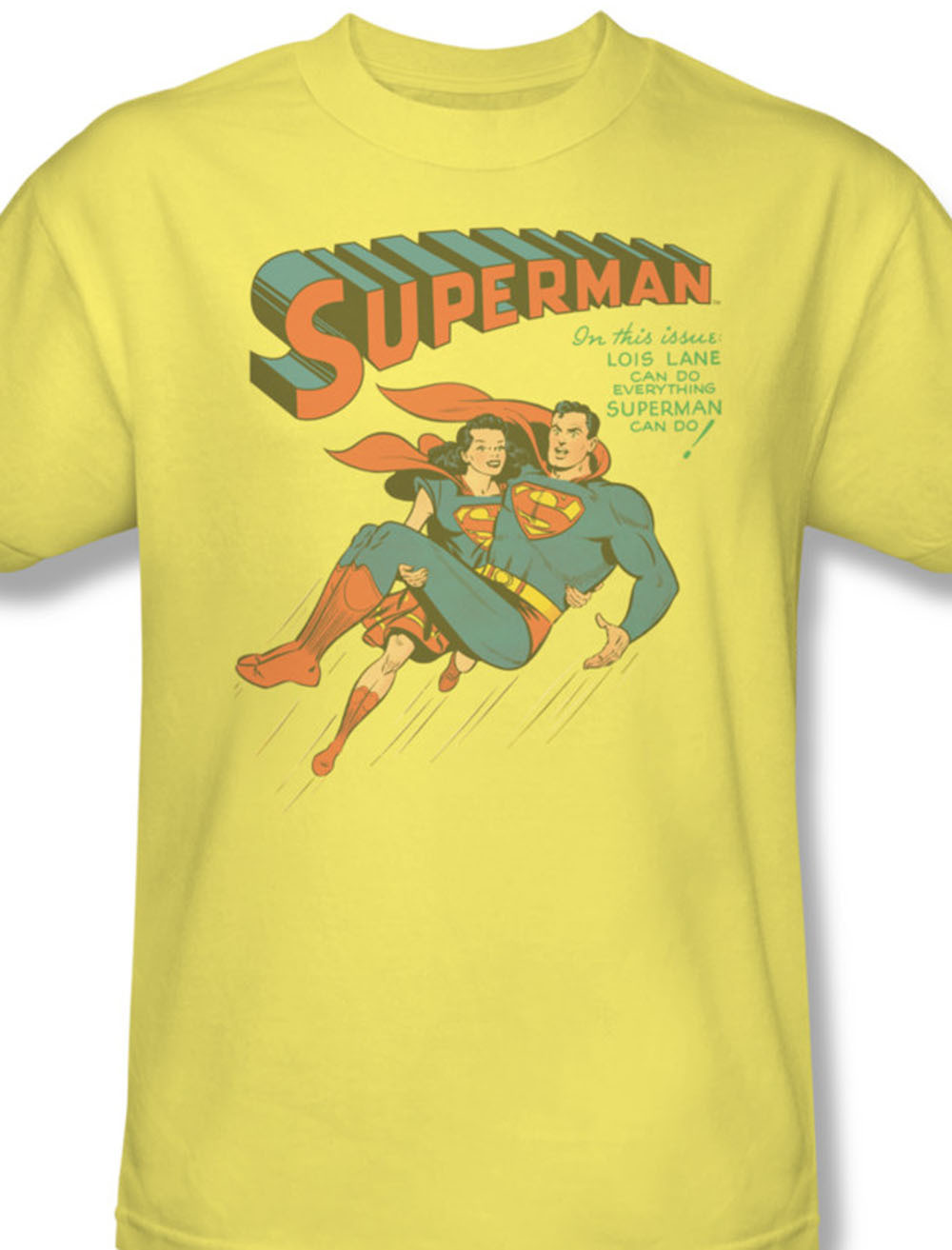 at superman lois lane dc comics vintage tee action comics graphic yellow tshirt for sale online