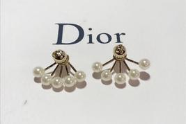"Authentic Christian Dior ""LA PETITE TRIBALE"" EARRINGS CD Logo Multi Pearl 2019 image 4"