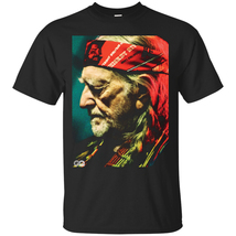Willie Nelson Black Men's T-Shirt Tee - $17.01+