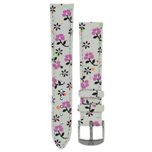 Michele 16mm Gia Floral Genuine Leather Strap MS16AA430226 Deco 16 Lilou - $48.19