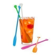 Cocktail Stir Sticks, Plastic Reusable Decorative Beverage Coffee Stirri... - $401,39 MXN