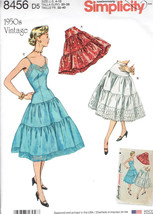 Vintage 1950's Slip Petticoat Misses size 4-12 Simplicity 8456 SewingPat... - $8.99