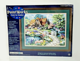 Vintage Dimensions Paint Works Paint By Number Kit English Cottage 91019... - $48.99