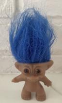 "Vintage Uneeda Wishnik 3"" Troll Doll - Blue Hair - $8.00"
