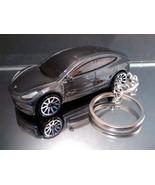 Dark Gray Tesla Model 3 Key Chain Ring - $15.19