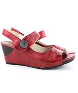 Womens Fluchos Kate Slingback Sandals - Metal Rojo Size EUR 39 [7522] - $59.99