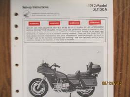 OEM Honda 1982 GL-1100 A Set-Up & PDS Instructions  - $12.99