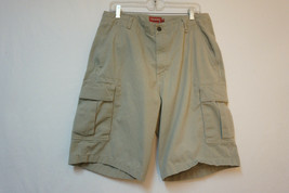 "Chaps Ralph Lauren HEAVY Khai Denim Cargo Shorts, Men's 34"" Waist B245 - $18.62"