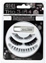 Ardell Trio 3-in-1 Fake Eyelashes Kit with Adhesive - Strip & Indiviudal... - $7.95
