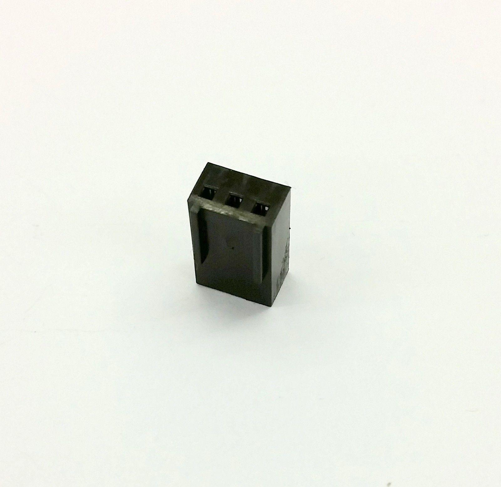 Packung von 2 - Buchse 3 Pin Lüfter Strom Verbinder - schwarz mit Pins image 2