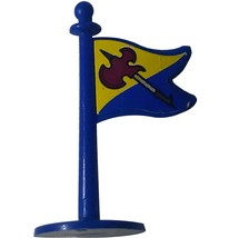 Crossbows and Catapults 1983 Lakeside Barbarian Flag-blue w. Viking-pike... - $2.99