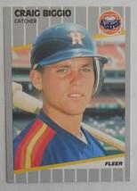 Craig Biggio Houston Astros HOF - 1989 Fleer Rookie RC #353 - Lot #8 - F... - $1.97