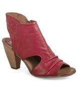 Miz Mooz Leather Peep-Toe Heeled Sandals - Mindy Cherry EU 38 / US 7.5-8 - £120.96 GBP