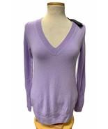 J. Crew  100% Cashmere V Neck Pullover Sweater Knit Light Purple Size S 29660 - $55.19