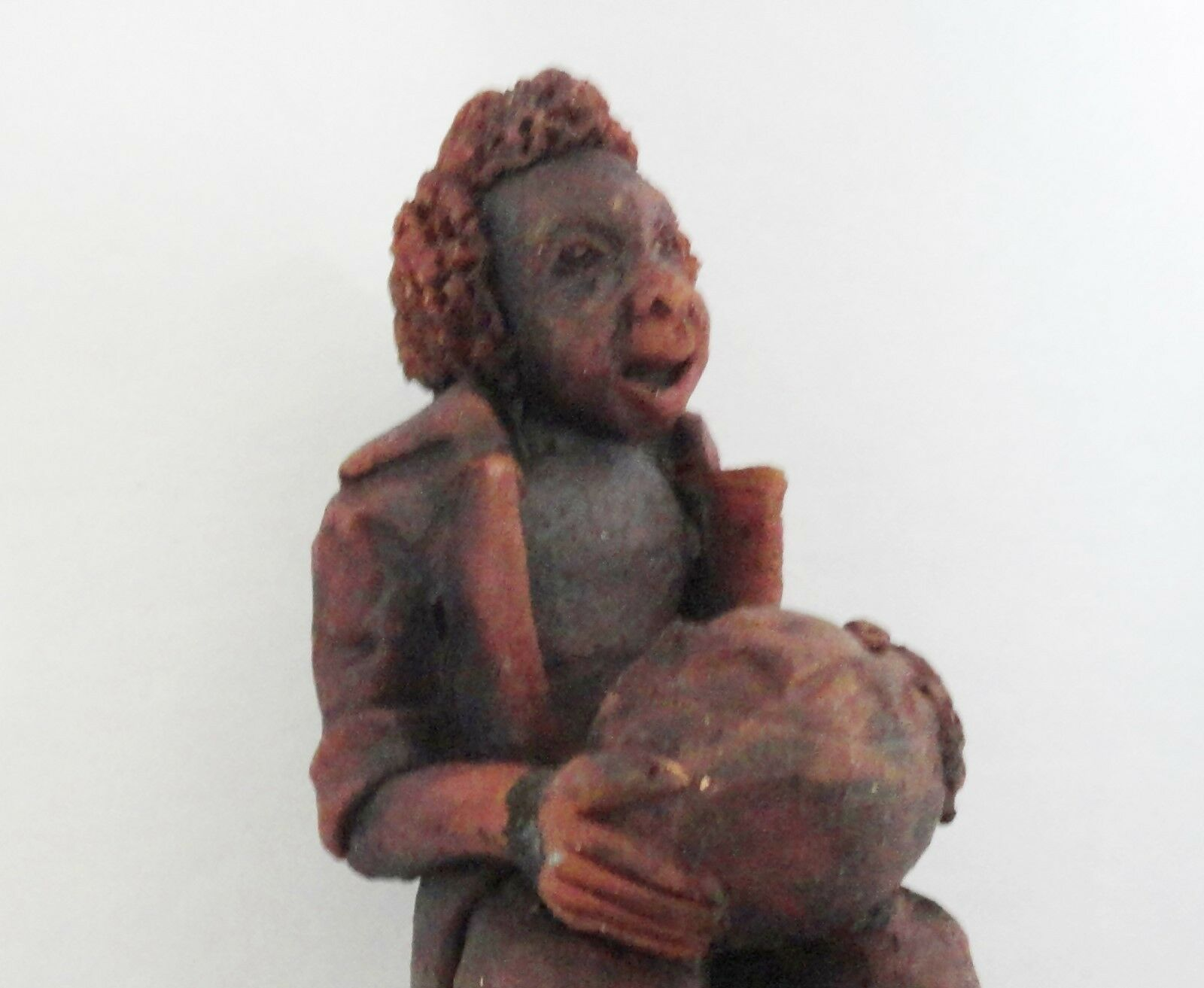 Bongo Playing Red Clay Musician Figurine